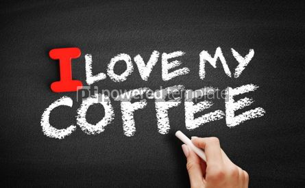 Business: I love my coffee text on blackboard #00618