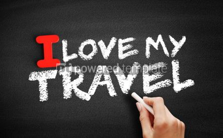 Business: I love my travel text on blackboard #00621
