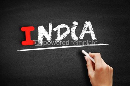 Business: India text on blackboard #00622