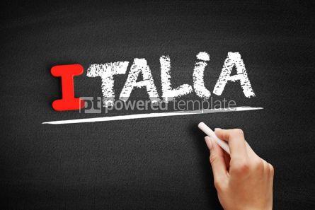Business: Italia text on blackboard #00623