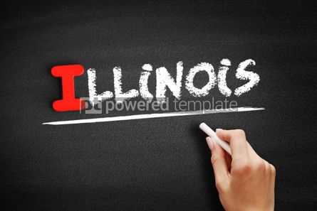 Business: Illinois text on blackboard #00624