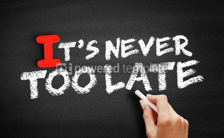 Business: Its Never Too Late text on blackboard #00629