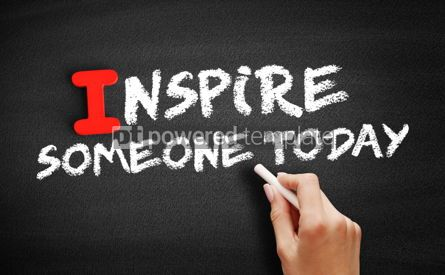 Business: Inspire Someone Today text on blackboard #00631
