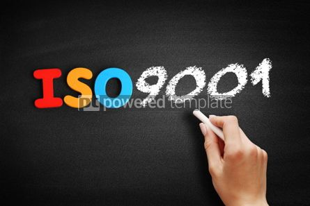 Business: ISO 9001 text on blackboard #00633