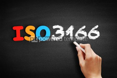 Business: ISO 3166 text on blackboard #00646