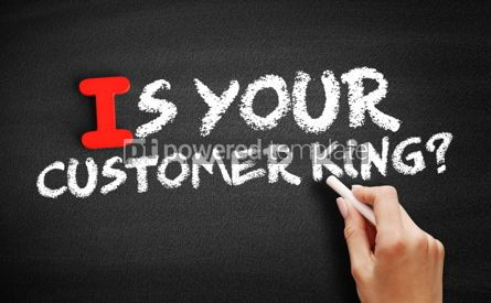Business: Is Your Customer King text on blackboard #00650
