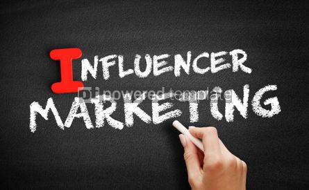 Business: Influencer Marketing text on blackboard #00651