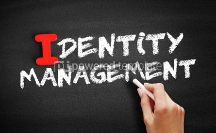 Business: Identity management text on blackboard #00652