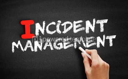 Business: Incident management text on blackboard #00653