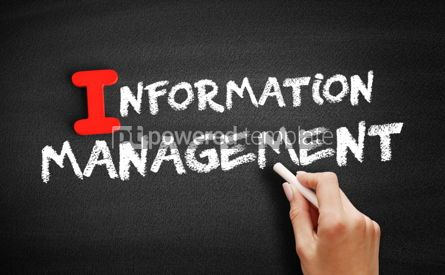 Business: Information management text on blackboard #00654