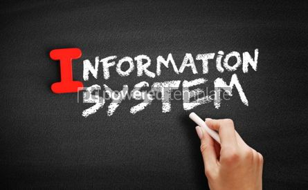 Business: Information system text on blackboard #00655