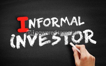 Business: Informal investor text on blackboard #00658