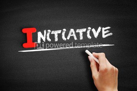 Business: Initiative text on blackboard #00659