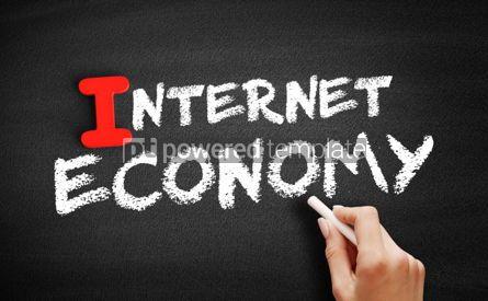 Business: Internet economy text on blackboard #00660