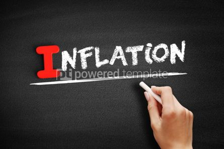 Business: Inflation text on blackboard #00661