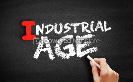 Business: Industrial age text on blackboard #00663