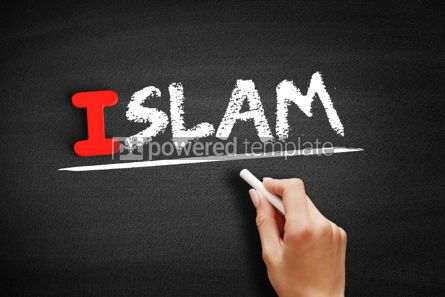 Business: Islam text on blackboard #00666
