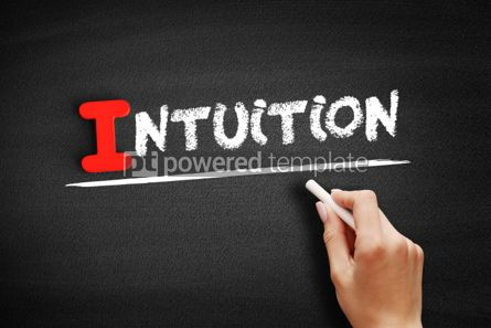 Business: Intuition text on blackboard #00669