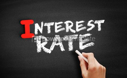 Business: Interest Rate text on blackboard #00671
