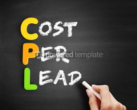 Business: CPL Cost Per Lead acronym on blackboard #00679