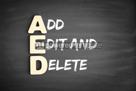 Business: AED Add Edit and Delete acronym #00685