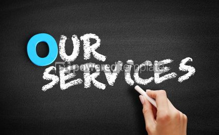 Business: Our Services text on blackboard #00697