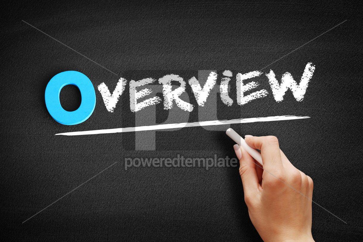 Overview text on blackboard, 00699, Business — PoweredTemplate.com