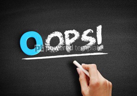 Business: Oops text on blackboard #00702