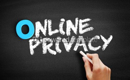 Business: Online Privacy text on blackboard #00703