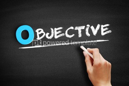 Business: Objective text on blackboard #00708