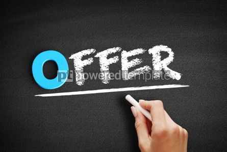 Business: Offer text on blackboard #00716