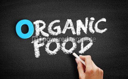 Business: Organic food text on blackboard #00719