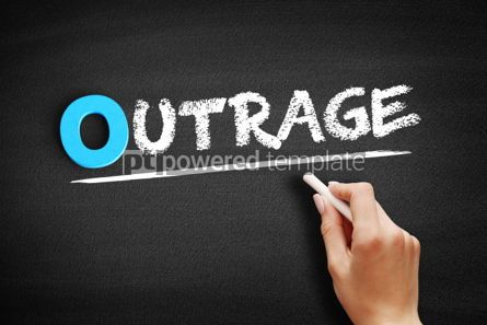 Business: Outrage text on blackboard #00720