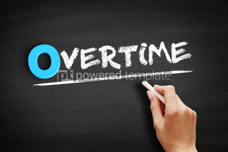 Business: Overtime text on blackboard #00721