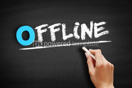 Business: Offline text on blackboard #00725