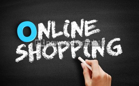 Business: Online shopping text on blackboard #00729