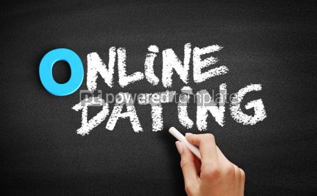 Business: Online Dating text on blackboard #00733