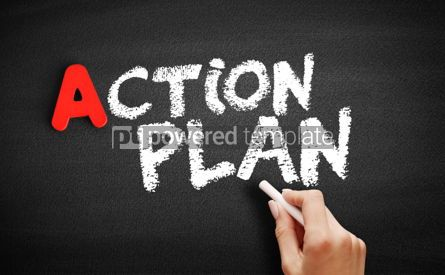 Business: Action Plan text on blackboard #00735