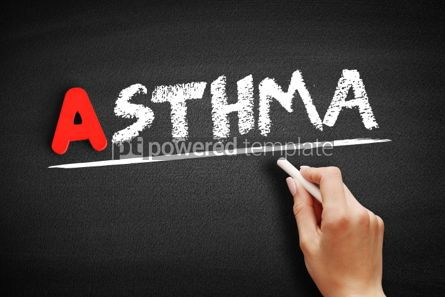 Business: Asthma text on blackboard #00736