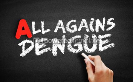 Business: All Against Dengue text on blackboard #00737