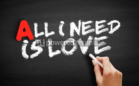 Business: All I need is love text on blackboard #00742
