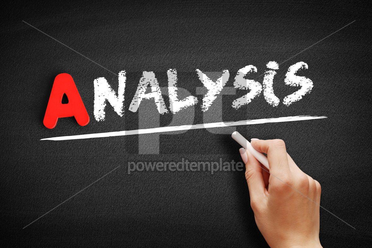 Analysis text on blackboard, 00743, Business — PoweredTemplate.com