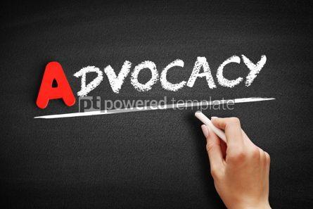 Business: Advocacy text on blackboard #00747