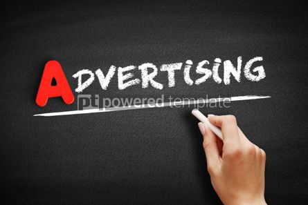 Business: Advertising text on blackboard #00749
