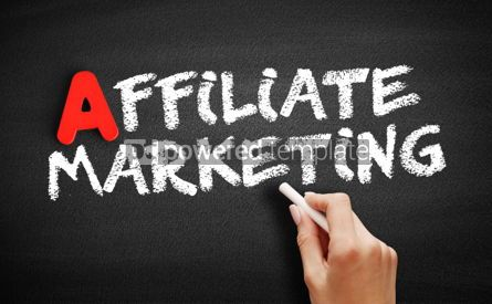 Business: Affiliate Marketing text on blackboard #00751