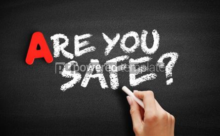 Business: Are You safe text on blackboard #00752
