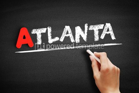 Business: Atlanta text on blackboard #00755
