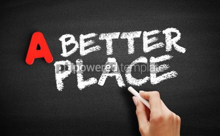 Business: A Better Place text on blackboard #00756