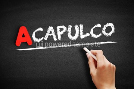 Business: Acapulco text on blackboard #00757