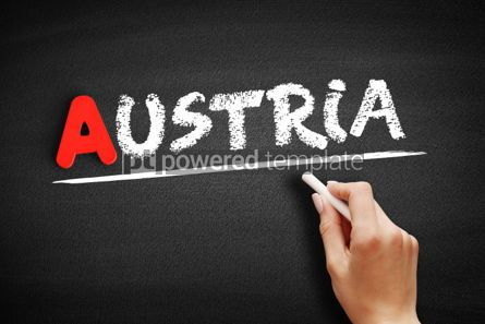Business: Austria text on blackboard #00758